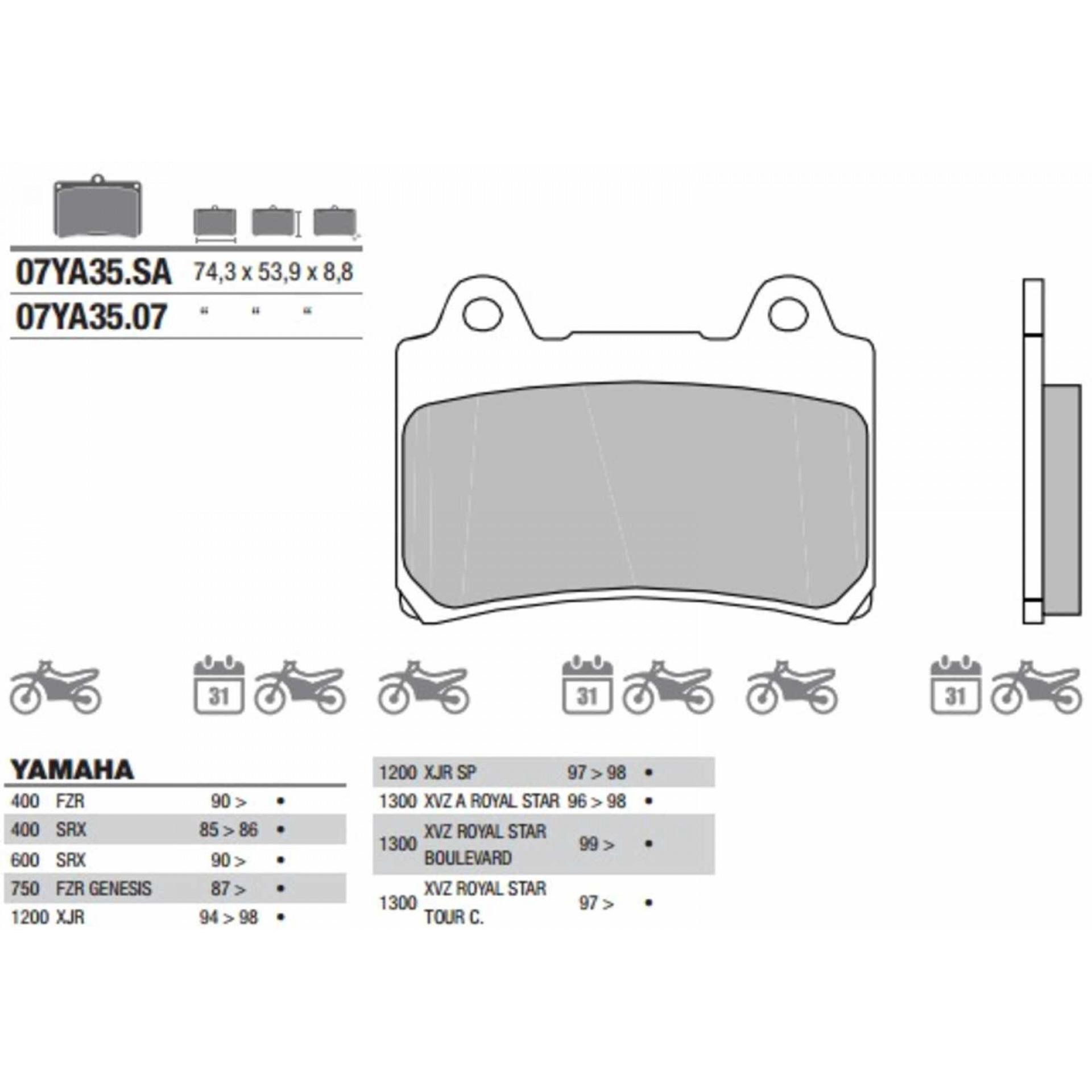 Manopole compatibili con Yamaha FZR 1000 FZR 600 FZR 400 FZR 750 stripe//grigio